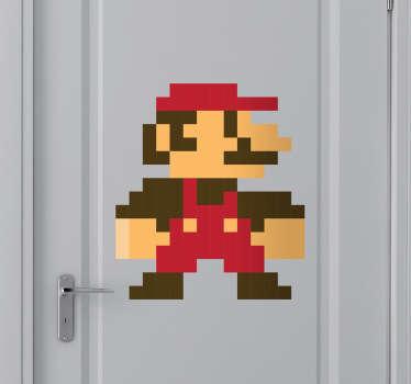 Adesivo bambini Super Mario pixel