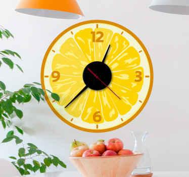 Ce adhesif d'horloge de fruits est vraiment un article unique! Connaître le temps beaucoup plus facile aujourd'hui avec ce design cool!