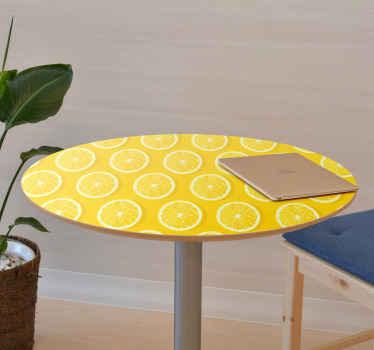 Placez cette peau de meuble citron jaune fraîche et unique sur votre meuble dès aujourd'hui! Livraison à domicile en quelques jours !