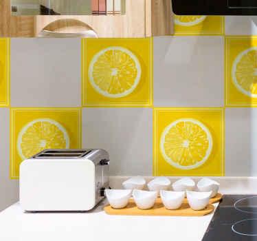 ¡Azulejos vinílicos de limón que se verán absolutamente increíble en tu cocina o baño! Puedes elegir el pack y las unidades ¡Fácil de colocar!