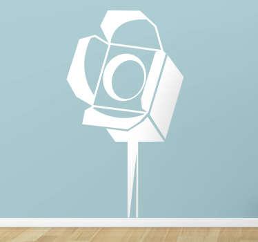 Naklejka dekoracyjna lampa