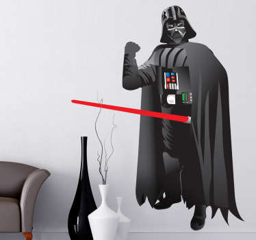 Pegatina del malvado alter ego de Anakin Skywalker de la serie de películas de Star Wars de George Lucas.