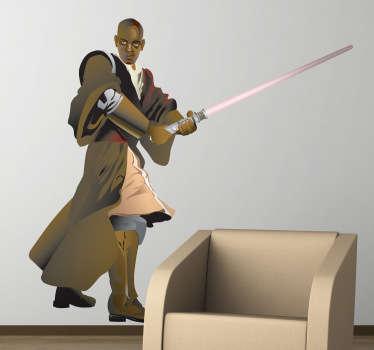 Adhesivo del malogrado miembro del consejo Jedi de la saga de films de Star Wars.