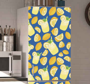 Lindo Vinil decorativo da frigorífico para a superfície da porta da frigorífico. Este produtotambém pode ser aplicado em outro eletrodoméstico da casa no tamanho certo.