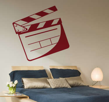 Film Wall Stickers - CUT! Director's board. Great sticker for the movie lovers and also media production companies to set a classic Hollywood atmosphere for you and your guests. Available in various sizes and colours so you can personalise your decor the way you want.