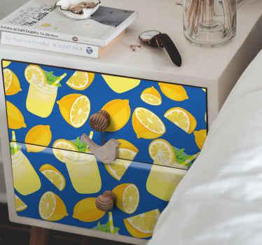 Puede envolver cualquier superficie de mueble con este vinilo mueble de jugo de limón. Disfruta ahora de una decoración exclusiva en tu hogar