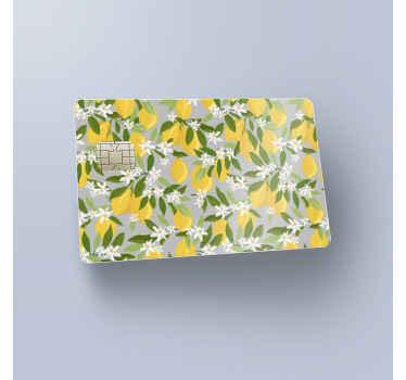 Ici nous avons pour vous un joli autocollant décoratif de couverture de carte de crédit Dans notre collection de stickers d'agrumes.