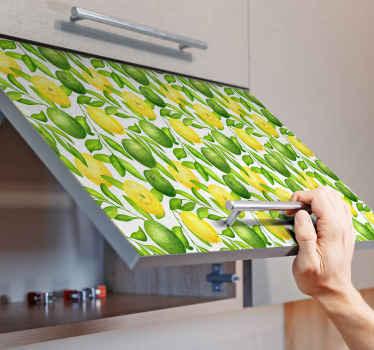 Increíble vinilo mueble de limones y limas para que decores los muebles de cualquier estancia del hogar con un diseño único ¡Envío exprés!