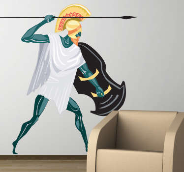 This wall sticker illustrates the Greek god Zeus. The supreme god in Greek mythology who ruled from Mount Olympus.