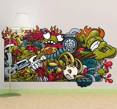 Sticker stedelijke muurschildering