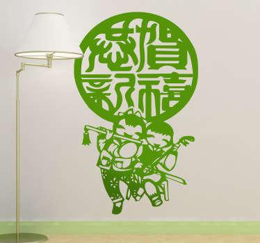 Sticker decorativo musicisti cinesi