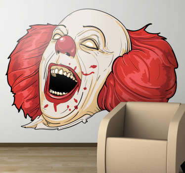 Sticker horror clown It