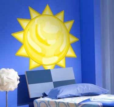 孩子贴纸太阳