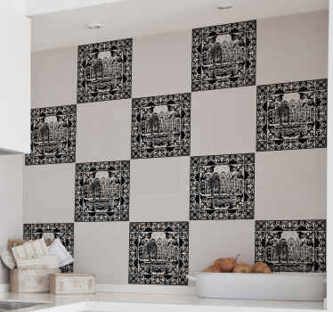 Cambie el aspecto de su lugar con la atención clásica de estos azulejos vinílicos con diseño de casas estilo flamenco ¡Elige tu pack!