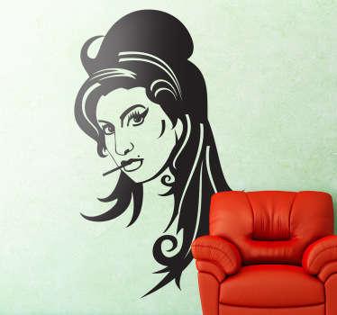 Vinilo decorativo retrato Amy Winehouse