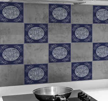 Beautiful tile wall sticker to decorate kitchen, bathroom, toilet and any other space desired. It application is easy, waterproof and wrinkle proof.