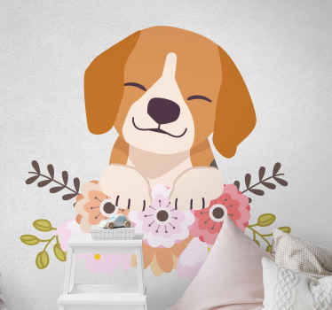 How much do you love animals? Well if you are a huge fan then you will love this vinyl illustration of this cute little dog.