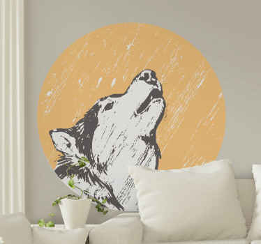 See this wolf vinyl illustrated hooting, with a stunning yellow background that accentuates the beauty of the design. Order now!