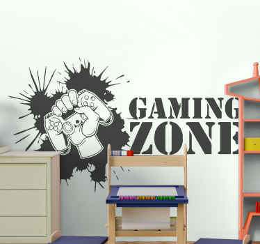 This wall gaming zone teens board  decoration sticker will easily find its place in your home.Our original Stickers will embellish your home decor.