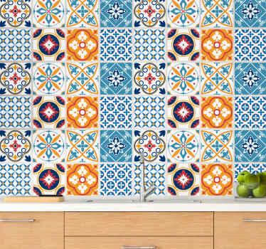 Azulejos vinílicos para cocina o baño de estilo marroquí para que decores ahora tu casa de forma original. Elige el pack ¡Envío exprés!