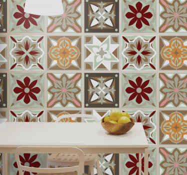 Fantásticos azulejos vinílicos de cemento multicolor para decorar tu hogar. Con patrones de colores beige para decorar tu baño o cocina ¡Envío exprés!