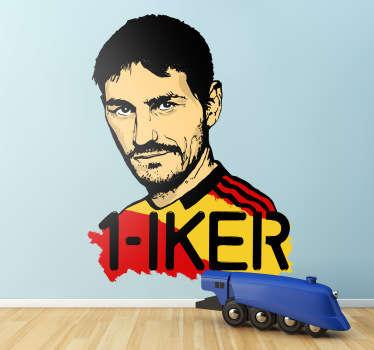 Stickers représentant le joueur Iker Casillas de la sélection de foot espagnoleIdée déco originale pour les décorations d'intérieure des sportifs.