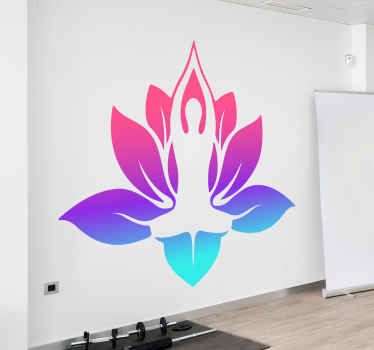 This colorful yoga sticker will illuminate your interior, will give you peace and will bring you closer to yoga. transform your room to a yoga room