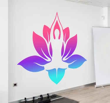 Denna färgglada yogaklister kommer att belysa ditt interiör, ge dig lugn och kommer att föra dig närmare yoga. Förvandla ditt rum till ett yogarum