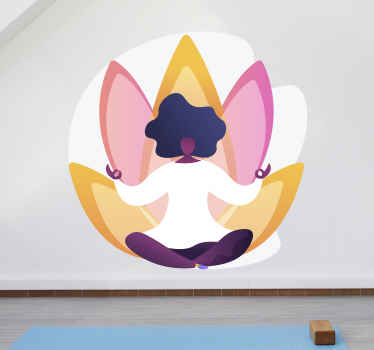 Show your passion for the yoga with this wall art sticker!  Why not add some color to them with this awesome yoga sticker! It