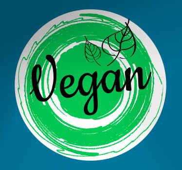 Frase vinilo pared para tienda vegana y restaurante vegano. Fabricado con material de calidad, adhesivo y de fácil aplicación ¡Envío exprés!