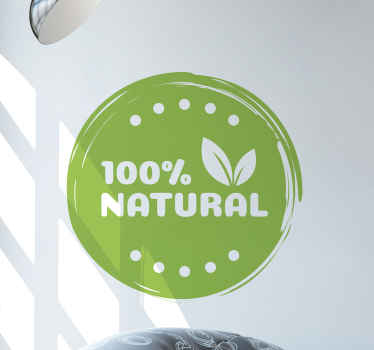 100% Natural vegan food sticker for vegan business space and other space decoration. It is original, easy to apply and durable.