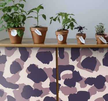 Purple camouflage vinyl print sticker - Cover the surface of a kitchen, dinning, bedroom or bathroom furniture with this amazing design.