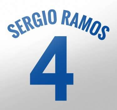 Sergio Ramos Wall Sticker