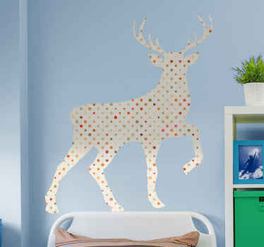 Beautiful silhouette wall sticker of stag animal. If you love wild animals and especially the ones in the deer family then this design is for you.