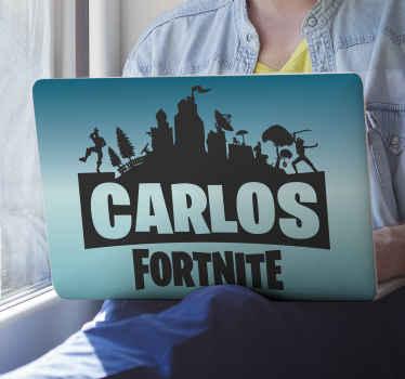 Decora tu portátil con este vinilo para laoptop de Fortnite con jugadores y nombres. Diseño para jugadores y amantes de Fortnite ¡Envío exprés!