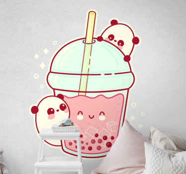Bubble panda shake wild animal decal - Decorate any space with this design and you would love it. Made of quality vinyl, durable and easy to apply.
