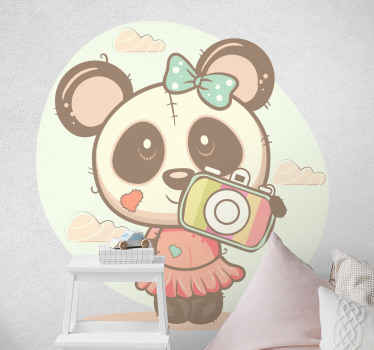 Funny panda taking a selfie wild animal decal - An amazing design to decorate any space in a house to create fun and interesting atmosphere.
