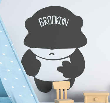 Are you or your kid representing Brooklyn?. If yes, then you should purchase panda wild animal decal with a Brooklyn face cap.
