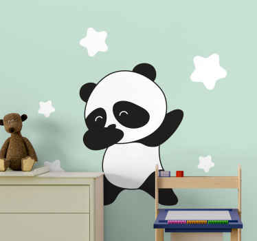 Panda dabbing wild animal decal - A decoration to create fun and interesting atmosphere on the space of a young one. Available in a y size needed.
