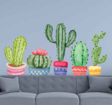Why not order this beautiful flower wallsticker product today and be amazed by its amazing cactus design? Home delivery in just a few days! Buy now!