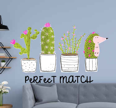 A fantastic sets of cactus flower plant sticker on flower pots. It is colorful and really attractive, it would sit lovely on any space decorated on.