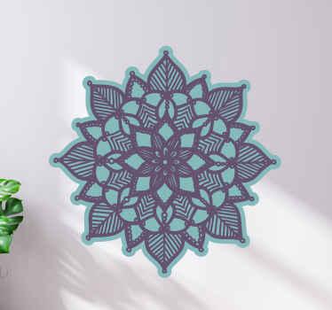 Zen lotusbloem muursticker - versier elke ruimte met dit ontwerp om het een mediatie-aura te geven voor yoga en andere concentratieoefeningen.