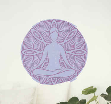 Yoga lotus  flower wall sticker - This design is perfect to decorate a yoga room or mediation space in the house or on business space.