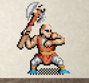 Sticker kind 8-bit personage