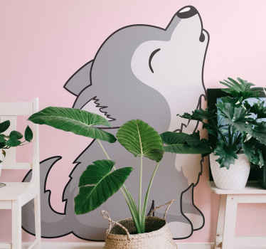 Decorative animal vinyl sticker - This can be applied on any flat surface, it is durable, easy to apply and can be customized to any dimension.
