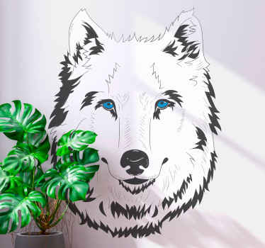 Place order for our decorative wolf cartoon jungle animal decal online from us to have it in few days. It is original nd durable.
