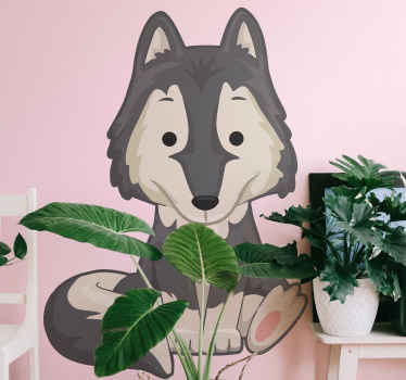 Decorative children bedroom sticker for lovers of wolf cartoon. If your kid love wolf and paw then you should purchase this design.