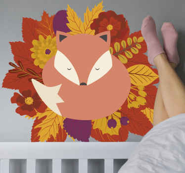 This wall sticker for bedroom depicts a fox in an autumn theme that will look amazing in your home! It is easy to apply and to clean!