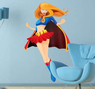 Naklejka na ścianę dla dzieci superwoman
