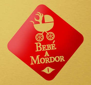 Adhesivo bebé a Mordor invertido